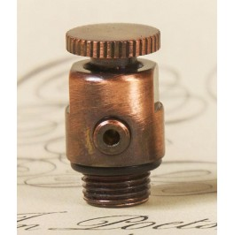 Luxury Traditional Radiator Bleed Valve - Antique Copper