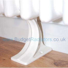 Cast Radiator Foot (Each) - White