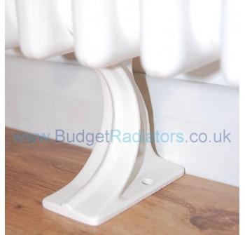 Cast Radiator Foot (Each) - White