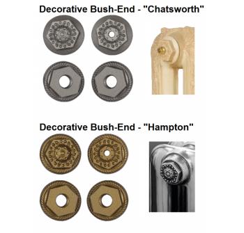 2 X Antiqued Bush Ends