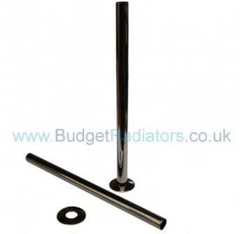 Pipe Sleeves and Floor Caps 300mm - Black Nckel