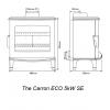 Carron ECO Stove 5kW SE - Cream Enamel