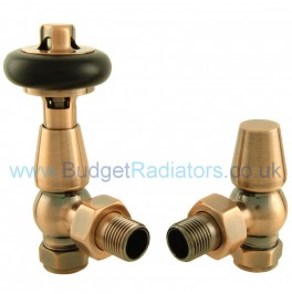 Belgravia Angled Thermostatic Valve Set - Antique Copper