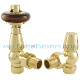 Belgravia Angled Thermostatic Valve Set - Polished Brass