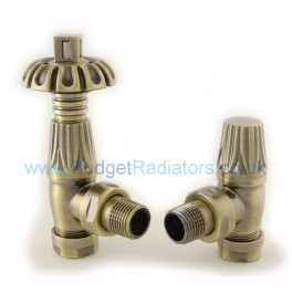 Balmoral Thermostatic Valve Set - Antique Brass