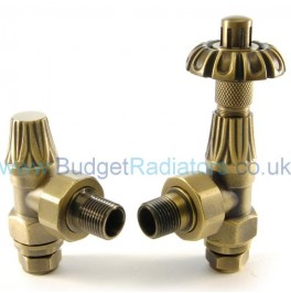 Abbey Thermostatic Valve Set - Old English Brass