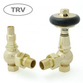 Amberley Thermostatic Valve Set - Polished Brass