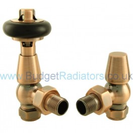Belgravia Angled Manual Valve Set - Antique Copper