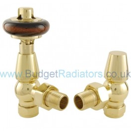 Belgravia Angled Manual Valve Set - Polished Brass