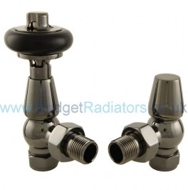 Belgravia Angled Manual Valve Set - Black Nickel
