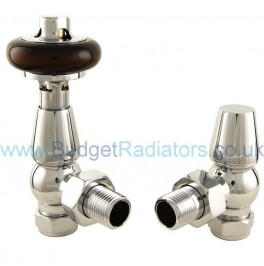 Belgravia Angled Manual Valve Set - Chrome