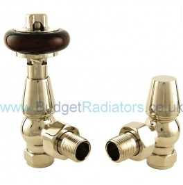 Belgravia Angled Manual Valve Set - Polished Nickel