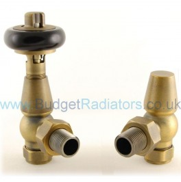 Belgravia Angled Manual Valve Set - Old English Brass
