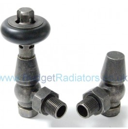 Belgravia Angled Manual Valve Set - Pewter