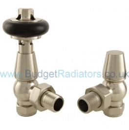 Belgravia Angled Manual Valve Set - Satin Nickel