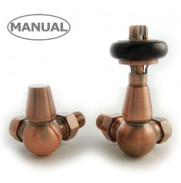 Belgravia Corner Manual Valve Set - Antique Copper