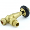 Belgravia Angled Thermostatic Valve - Brushed Brass