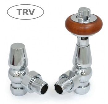 Belgravia Angled Thermostatic Valve Set - Chrome