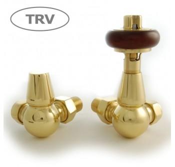Belgravia Corner Thermostatic Valve Set - Polished Brass