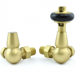 Belgravia Corner Thermostatic Valve - Brushed Brass