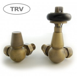 Belgravia Corner Thermostatic Valve - Old English Brass