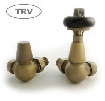 Belgravia Corner Thermostatic Valve - Old English Brass