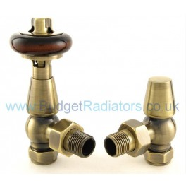 Belgravia Angled Thermostatic Valve Set - Antique Brass