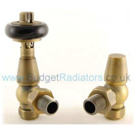 Belgravia Angled Thermostatic Valve - Old English Brass