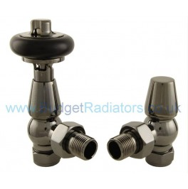 Belgravia Angled Thermostatic Valve Set - Black Nickel