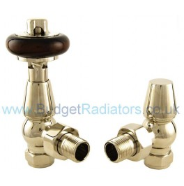 Belgravia Angled Thermostatic Valve Set - Polished Nickel