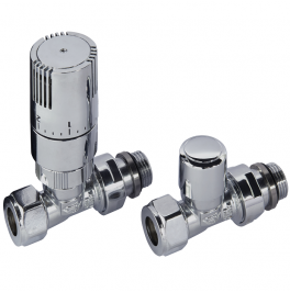 Kingston Straight TRV Set - Chrome
