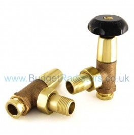 Stirling Angled Manual Valve Set - Unlacquered Brass