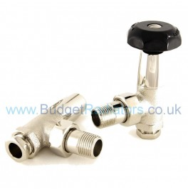 Stirling Angled Manual Valve Set - Polished Nickel