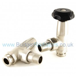 Stirling Angled Manual Valve Set - Satin Nickel