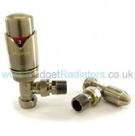 Waverley Angled Thermostatic Valve Set - Antique Brass