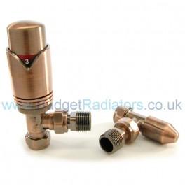 Waverley Angled Thermostatic Valve Set - Antique Copper